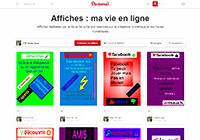 Affiches : ma vie en ligne - Travaux d'élèves en EMI
