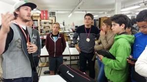 En lien avec le cours de techno et le module de culture numérique les élèves de 5eB du collège Saint-jean (81) ont participé au FabLAb - Apprentis d'Auteuil