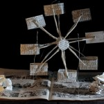 """A partir de la consigne """"illustre l'histoire de ton livre en sculptant ton livre"""" les élèves de 3ème ont créé des livres-objets au CDI du Collège Saint Jean"""