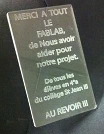 En partenariat avec Orange Solidarité, les élèves du collège Saint Jean de Saint-Sulpice (81) ont modélisé un prototype d'un portail au Fablab de Toulouse