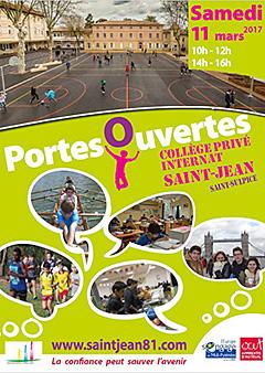 Journée  portes ouvertes le 11 mars 2017 au Collège Saint-Jean (81)